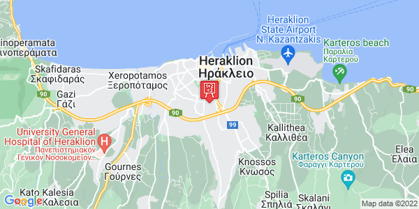Google Map of Μήνα Γεωργιάδου 63, Heraklion, Crete Region, Greece