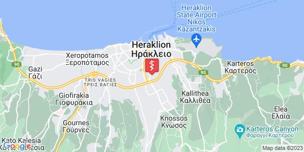Google Map of Κλεάνθους 13, Ηράκλειο 713 07, Ελλάδα