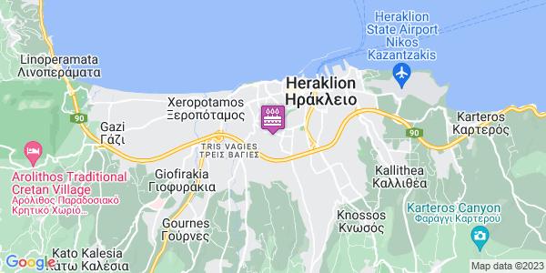Google Map of Georgiou Petrakogiorgi 21, Iraklio 713 05, Greece