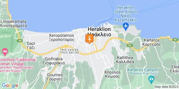 Google Map of Ροδοκανάκη 6, Ηράκλειο 713 05, Ελλάδα