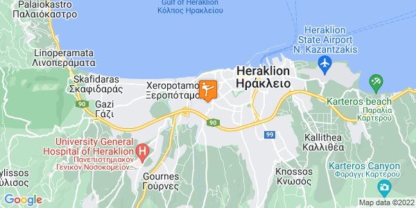 Google Map of Φώτη Αϊδινλή 23, Heraklion, 713 04, Greece