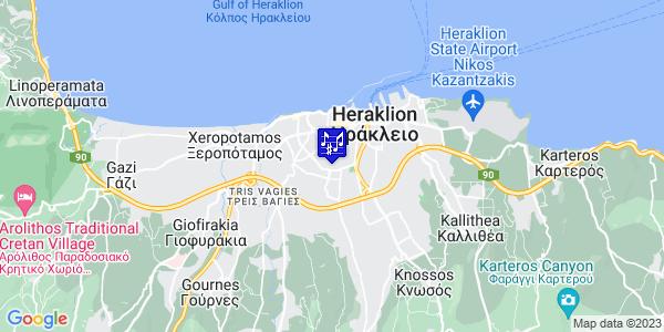 Google Map of Πατριάρχου Γρηγορίου Ε 25, Ηράκλειο 713 05, Ελλάδα