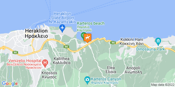 Google Map of Karteros 715 00, Greece