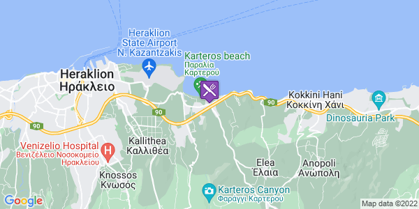 Google Map of Καρτερός 715 00, Ελλάδα