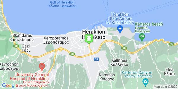 Google Map of Leof. Eth. Antistaseos 15, Iraklio 713 06, Greece