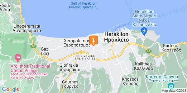 Google Map of Λεβήνου 70, Ηράκλειο 713 04, Ελλάδα