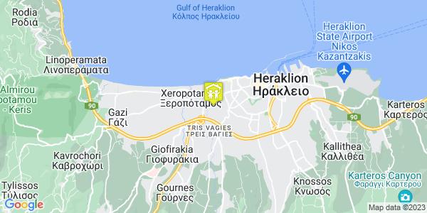 Google Map of Λευκωσίας 27, Heraklion, Crete Region, Greece