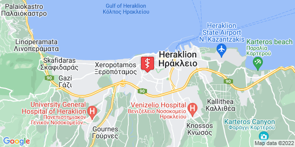 Google Map of Κονδυλάκη 62, Ηράκλειο 713 05, Ελλάδα