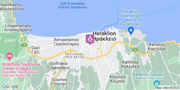 Google Map of M. Merkouri 38, Iraklio 713 05, Greece