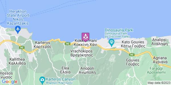 Google Map of Κοκκίνη Χάνι, Ελλάδα