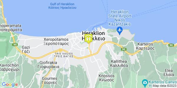 Google Map of Λεωφ. Δημοκρατίας 73, Ηράκλειο 713 06, Ελλάδα