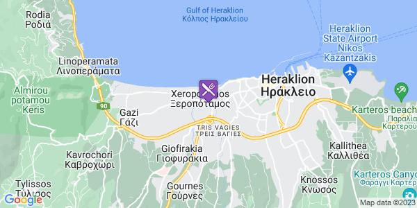 Google Map of Λεωφ. 62 Μαρτύρων 300, Ξεροπόταμος 713 04, Ελλάδα