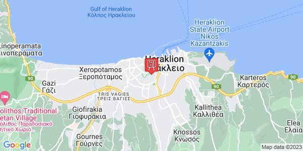 Google Map of Εμμανουήλ Καστρινάκη 13, Heraklion, 713 06, Greece