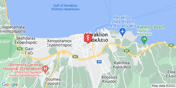 Google Map of Leof. Andrea Papandreou 5, Iraklio 713 05, Greece