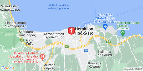 Google Map of Thenon 66, Iraklio 713 05, Greece