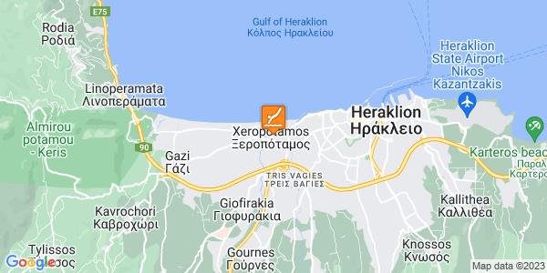 Google Map of Σπύρου Μουστακλή 1, Ξεροπόταμος 713 03, Ελλάδα