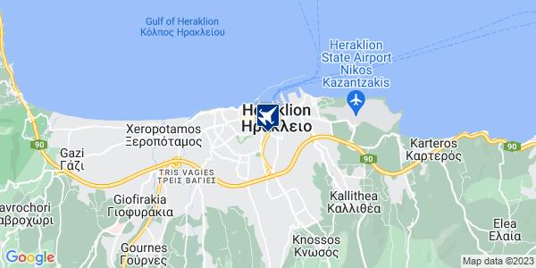 Google Map of Λεωφ. Εθ. Αντιστάσεως 73, Ηράκλειο 713 06, Ελλάδα