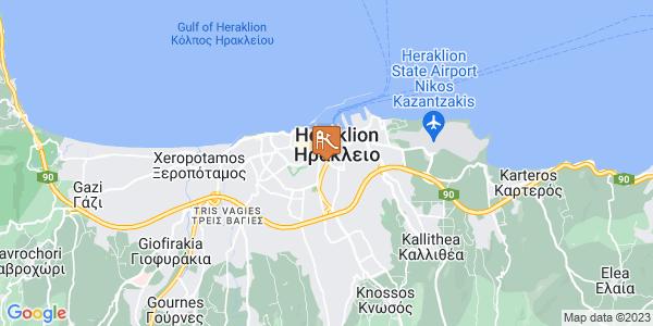 Google Map of Γερωνυμάκη 36, Ηράκλειο 713 06, Ελλάδα
