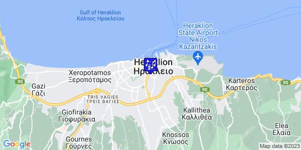 Google Map of Μονής Πρέβελης 57, Ηράκλειο 713 07, Ελλάδα