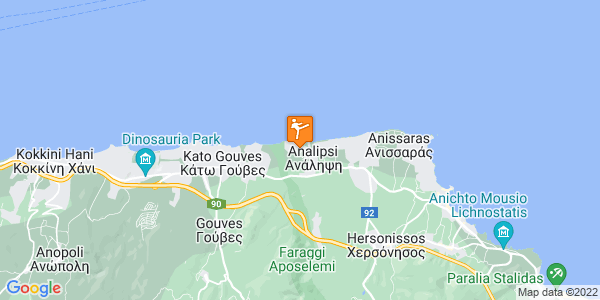 Google Map of Χερσόνησος 700 14, Ελλάδα