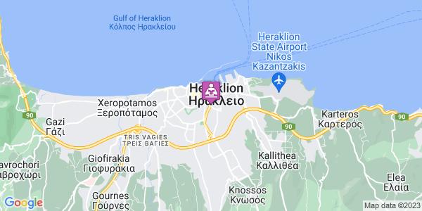 Google Map of Λεωφ. Εθ. Αντιστάσεως 118, Ηράκλειο 713 07, Ελλάδα