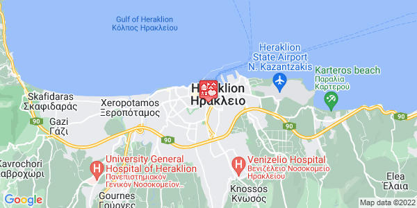 Google Map of Πλεύρη 2, Ηράκλειο 713 06, Ελλάδα