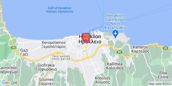 Google Map of Πλεύρη 1, Heraklion, Greece