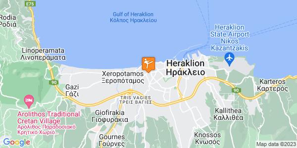 Google Map of Ανωγείων 68, Ηράκλειο 713 04, Ελλάδα
