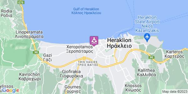 Google Map of Leof. 62 Martiron 108, Iraklio 713 03, Greece