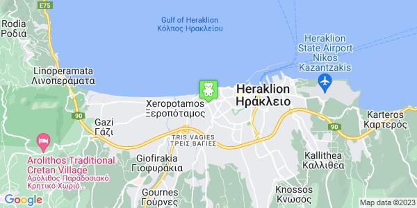 Google Map of Λεωφόρος 62 Μαρτύρων 101, Ηράκλειο, Κρήτη, Ελλάδα