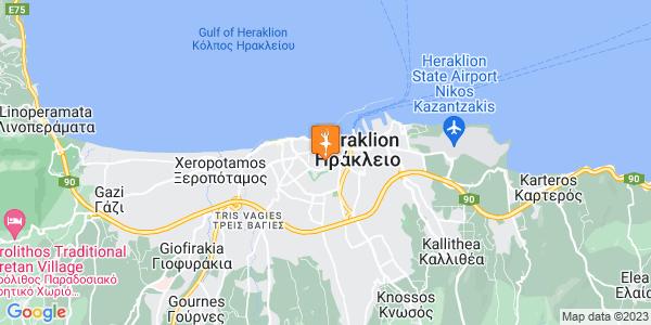 Google Map of Αρχανών 9, Ηράκλειο 712 01, Ελλάδα