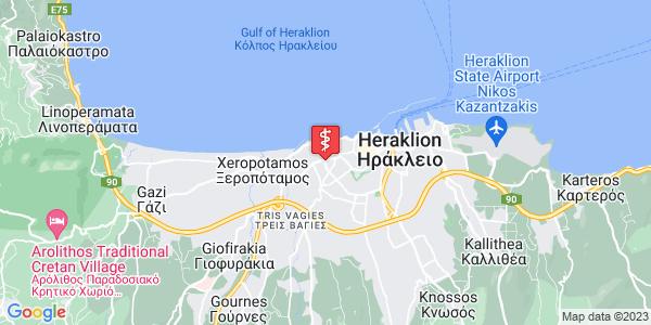 Google Map of Leof. Minoos 61, Iraklio 713 04, Greece