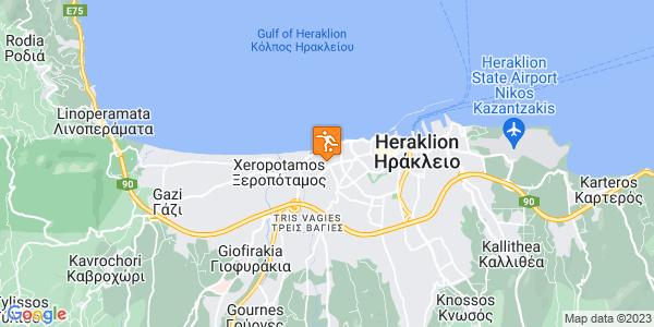 Google Map of Ηράκλειο 713 03, Ελλάδα