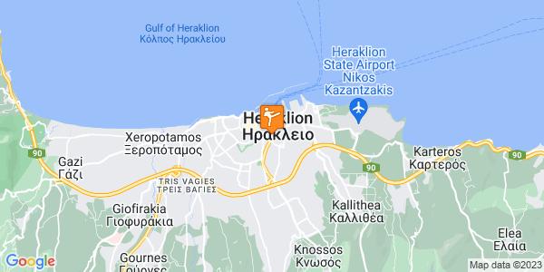 Google Map of Λεωφόρος Εθνικής Αντιστάσεως 142, Heraklion, 713 07, Greece