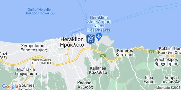 Google Map of Μελπομένης & Καρτερού, Νέα Αλικαρνασσός 716 01, Ελλάδα