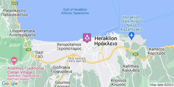 Google Map of Λεωφ. 62 Μαρτύρων 46, Ηράκλειο 713 03, Ελλάδα