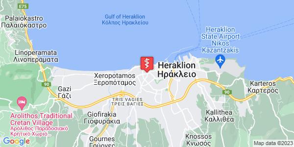 Google Map of Λεωφ. 62 Μαρτύρων 7, Ηράκλειο 713 04, Ελλάδα