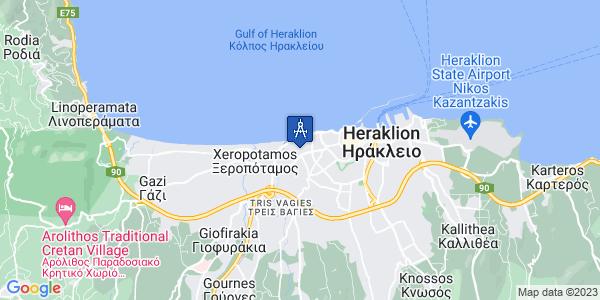 Google Map of Θεόκριτου 10, Heraklion, 713 03, Iraklio, Greece