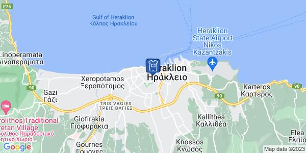 Google Map of Αβέρωφ 21, Ηράκλειο 712 01, Ελλάδα