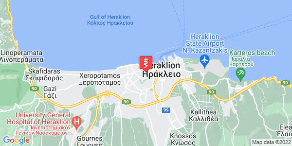 Google Map of 1866 99, Iraklio 712 01, Greece