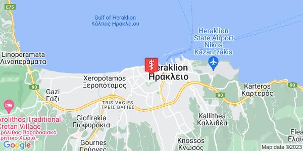 Google Map of Thiseos 18, Iraklio 712 01, Greece