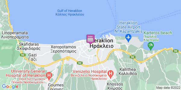 Google Map of Αμάλθειας 20, Ηράκλειο 712 01, Ελλάδα