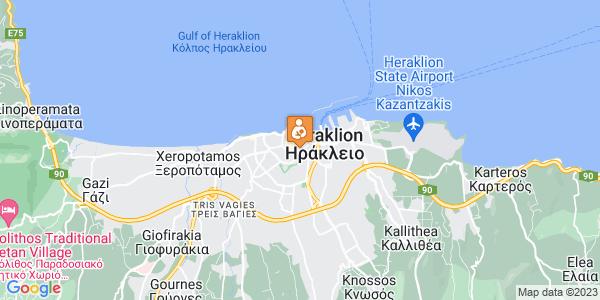 Google Map of Αβέρωφ 3, Ηράκλειο 712 01, Ελλάδα