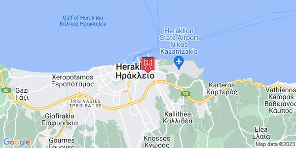 Google Map of Αριστείδου 17, Ηράκλειο 713 07, Ελλάδα