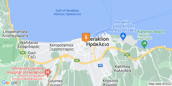 Google Map of Γερασίμου Παρδάλη 3, Ηράκλειο, 712 01, Greece