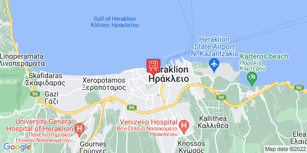 Google Map of Έβανς 36, Heraklion, 712 01, Greece
