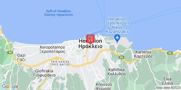 Google Map of Χρυσοπηγής, Ηράκλειο 713 07, Ελλάδα