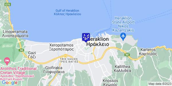 Google Map of Αγίου Μήνα 25, Ηράκλειο 712 01, Ελλάδα
