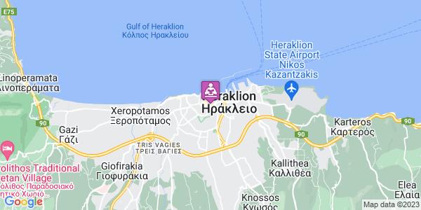 Google Map of Rousou Chourdou 8, Iraklio 712 01, Greece