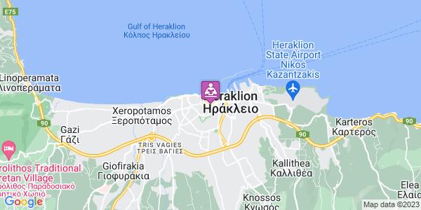 Google Map of Κοζύρη 1, Ηράκλειο 712 01, Ελλάδα